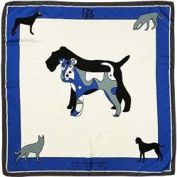 Amitié - Foulard donna blu 90x90 twill 100% seta