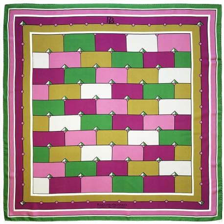 Idiomes - Foulard donna viola e verde 90x90 twill 100% seta