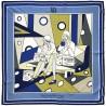 Vanità e Beltà - Foulard woman blue 90x90 twill 100% silk