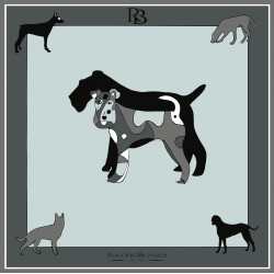 Amitié - Foulard donna grigio e nero 90x90 twill 100% seta